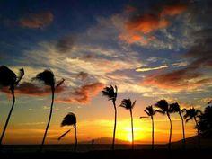 Hawaii sunset. Wow.