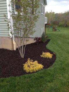 Landscape rubber mulch in brown color