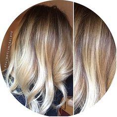 blonde goal... balayage | ombre | platinum blonde | dark roots