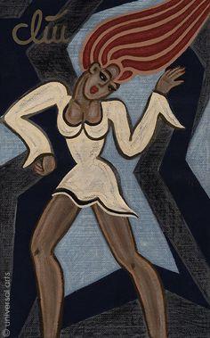 JACQUELINE DITT - Funky Diva Dance A4 Druck n.Gemälde Bild Tanz Girl Bilder art