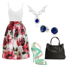"""""""Femme Fatale"""" by timmology on Polyvore featuring Glamorous, Jimmy Choo, Bling Jewelry and Prada"""