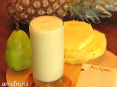 Cupuacu pear pineapple smoothie : Amafruits: Superfruits from the Amazon, Organic Acai Berry Purees Smoothie Packs, Smoothie Recipes, Smoothies, Organic Superfoods, Frozen Pineapple, Acai Berry, Smoothie Ingredients, Exotic Fruit, Pear