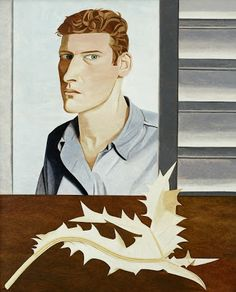 'Man with a Thistle (self portrait)' (1946) by British artist Lucien Freud (1922-2011). Oil on canvas, 610 x 502 mm. via the Tate