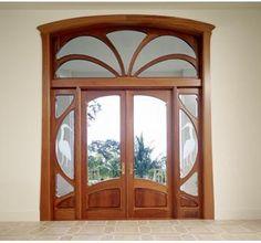 Art Nouveau Door custom made by William Doub Custom Furniture Wooden Window Design, Art Nouveau Furniture, Door Design Interior, Design Interiors, Sandblasted Glass, Art Nouveau Architecture, Unique Doors, Wooden Doors, Glass Door