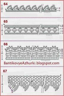 crochet home: crochet edges Thread Crochet, Crochet Motif, Crochet Stitches, Crochet Patterns, Irish Lace, Crochet Home, Crochet Clothes, Mittens, Elsa