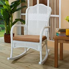 Outdoor Coral Coast Casco Bay Resin Wicker Rocking Chair Breakfast