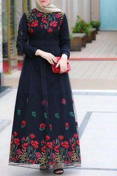 modern islamic dresses jilbabs online Lulu Lace Abaya woman in islam arabian aba… - New Dress Muslim Women Fashion, Islamic Fashion, Modest Fashion, Hijab Fashion, Fashion Dresses, Trendy Dresses, Modest Dresses, Dress Muslim Modern, Hijab Dress Party