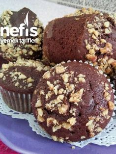 Kakaolu Cevizli Muffin Top Kek - is-sit tiegħi Cake Recipes, Dessert Recipes, Muffin Recipes, Tasty, Yummy Food, Delicious Recipes, Food Humor, Food And Drink, Chocolate