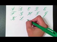 Writing the Copperplate Calligraphy Alphabet with a Pentel Touch Brush Pen - YouTube
