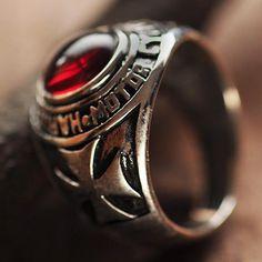 Men's Sterling Silver Iron Cross Biker Ring