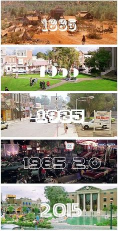 Back to the Future Hill Valley through the years