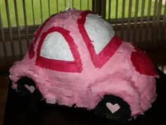 Car Pinata - Pink VW Bug, but different color