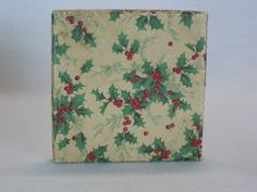 Four Vintage Store Decorated Christmas Gift Boxes Holly Berries Bows   eBay