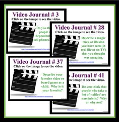 I started using video journals once a week as a writing prompt.  Not only do my students love them, but it helps with classroom management and has been an excellent tool for engaging reluctant writers.