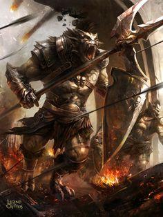 [2012.12.22-01] Picture  (2d, illustration, fantasy, warrior, monster)