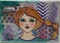 Canvas Collage, Collage Art, Mixed Media Canvas, Mixed Media Art, Watercolor Girl, Faith Bible, Flower Canvas, Mini Canvas, Frame Display