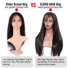 Elemo 360 Lace Frontal Wigs With Baby Hair Water Wave 100 Virgin Human Hair Elemo Hair Permed Hairstyles, Straight Hairstyles, Curly Full Lace Wig, 100 Human Hair Wigs, Straight Lace Front Wigs, Lace Frontal, Body Wave, Lace Closure, Virgin Hair