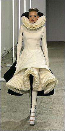 Gareth Pugh futuristic armour. www.fashion.net