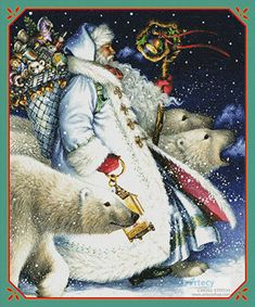 Polar Magic Santa Claus by Lynn Bywaters Father Christmas, Blue Christmas, Christmas Cross, Christmas Holidays, Xmas, Christmas Decor, Christmas Scenes, Christmas Pictures, Santa Pictures
