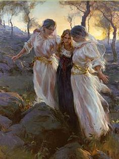 """Daniel Gerhartz Handsigned and Numbered Limited Edition Giclee on Canvas : """"Hind's Feet on High Places"""" - Daniel Gerhartz"""