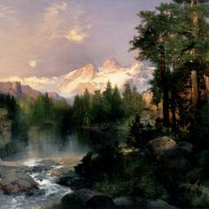"""""""The Tetons have loomed up grandly against the sky. From this point it is perhaps the finest pictorial range in the United States or even North America."""" -- #Artist Thomas Moran, August 1879."""