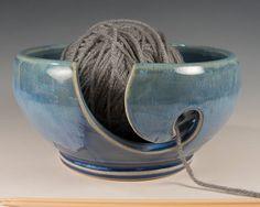 Yarn / Knitting Bowl - flowing soft blue glaze - Wheel Thrown Stoneware by Seiz Pottery by SeizPottery on Etsy https://www.etsy.com/listing/259187590/yarn-knitting-bowl-flowing-soft-blue
