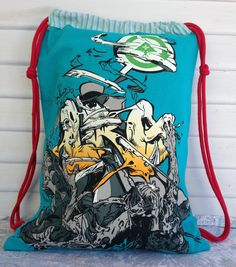 LRG Shirt turned into a Drawstring Backpack. For Sale on Etsy AlamedaIslandGirl