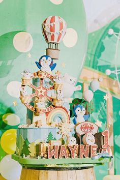 Don't miss this adorable little boy's 1st birthday party! The party decorations are wonderful! See more party ideas and share yours at CatchMyParty.com #catchmyparty #partyideas #boy1stbirthday