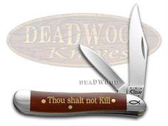 CASE XX 6th Commandment Chestnut Bone Peanut 1/500 Stainless Pocket Knife Knives