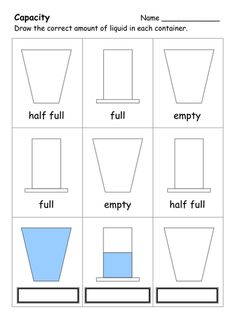 A selection of worksheets on Capacity, suitable for Capacity Activities, Capacity Worksheets, Volume Worksheets, Measurement Worksheets, Free Kindergarten Worksheets, School Worksheets, Kindergarten Activities, Work Activities, Math For Kids