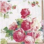 Decoupage Paper Art Napkin | Victoria Rose on White
