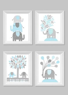 Hey, I found this really awesome Etsy listing at https://www.etsy.com/listing/217334850/light-blue-and-gray-nursery-art-elephant
