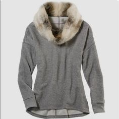 aerie Sweaters - Aerie fur cowl neck pullover