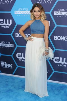 Vanessa Hudgens in a Bongo crop top and Badgely Mischka skirt at the 16th Annual Young Hollywood Awards | StyleListCanada