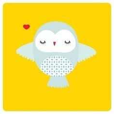 "Illustration Print of a baby Owl titled ""Bebe Owl"""