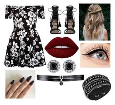 """""""Outfit 51 (A)"""" by molly-m-xxx ❤ liked on Polyvore featuring New Look, Zimmermann, Lime Crime, Swarovski, Luminess Air and Fallon"""