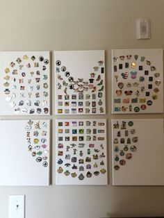 Great way to display Disney Pins! Six canvases Great way to display Disney Pins! Six canvases The post Great way to display Disney Pins! Six canvases appeared first on DIY Projects. Disney Diy, Disney Snacks, Casa Disney, Deco Disney, Disney Home Decor, Disney Crafts, Disney House, Disney Room Decorations, Disney Wall Decor