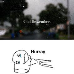funny fall cuddle weather alone