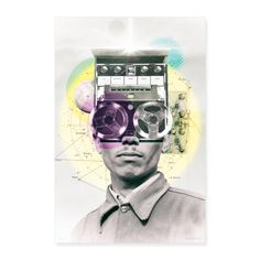 Tapehead - Poster 60x90 cm | antitype Artworks, Poster, Mindfulness, Shirts, Vivid Colors, Art Pieces, Dress Shirts, Posters, Shirt