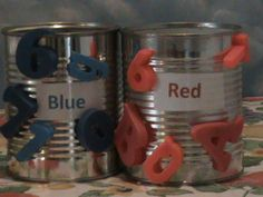 Sorting tin cans Preschool Literacy, Sorting Activities, Motor Activities, Toddler Preschool, Activities For Kids, Color Songs, Busy Boxes, Cardboard Toys, Learning Time