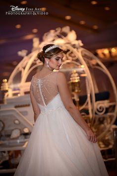 Cinderella Alfred Angelo wedding dress at the 2015 Disney's Fairy Tale Weddings & Honeymoons Showcase