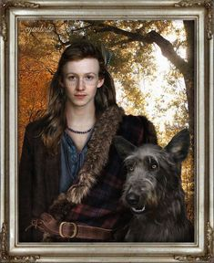Young Ian Murray Fraser and Rollo – Outlander . Outlander Fan Art, Outlander Season 4, Outlander Book Series, Outlander Casting, Outlander Characters, Tartan, Diana Gabaldon Books, Drums Of Autumn, Book Series