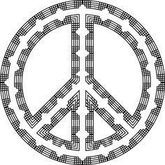 Soyut, Sanat, Geometrik, Tek Renkli, Barış, Işaret