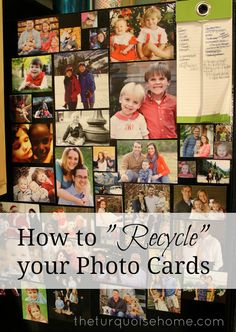 Don't throw your cards away!! Such a cute idea to upcycle your photo Christmas cards!