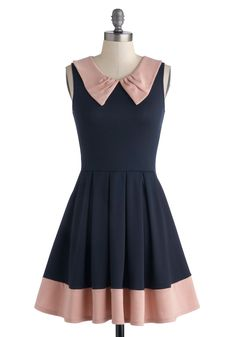 Prose and Contrast Dress in Navy | Mod Retro Vintage Dresses | ModCloth.com $52.99