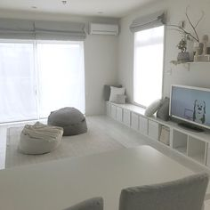 Lounge/無印良品/IKEA/ベンチ/ニトリ/シンプル...などのインテリア実例 - 2018-01-27 12:31:17 | RoomClip (ルームクリップ) Home Room Design, Cozy House, Minimalist Room, Interior, Small Room Interior, Home Decor, House Interior, Room Interior, Apartment Decor