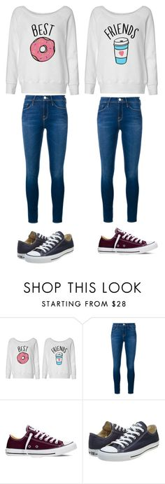 """""""me and kaniya be twinning❤"""" by janessan-963 on Polyvore featuring Frame Denim, Converse, women's clothing, women, female, woman, misses and juniors"""