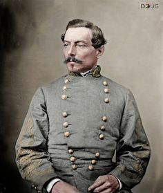 General Pierre Gustave Toutant Beauregard c. 1863 (May 28, 1818 – February 20, 1893)  He became the first Confederate brigadier general and commanded the defenses of Charleston, South Carolina, for the start of the Civil War at Fort Sumter on April 12, 1861. Three months later he was the victor at the First Battle of Bull Run.