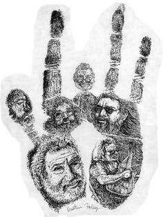 Jerry Garcia Handprint. grateful always.