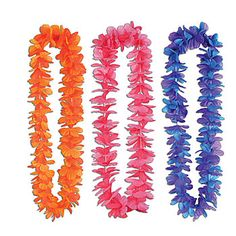 Tropical Sunset Leis, Brightly Colored Leis